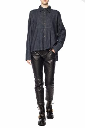 Ruffled denim shirt od Diesel Black Gold